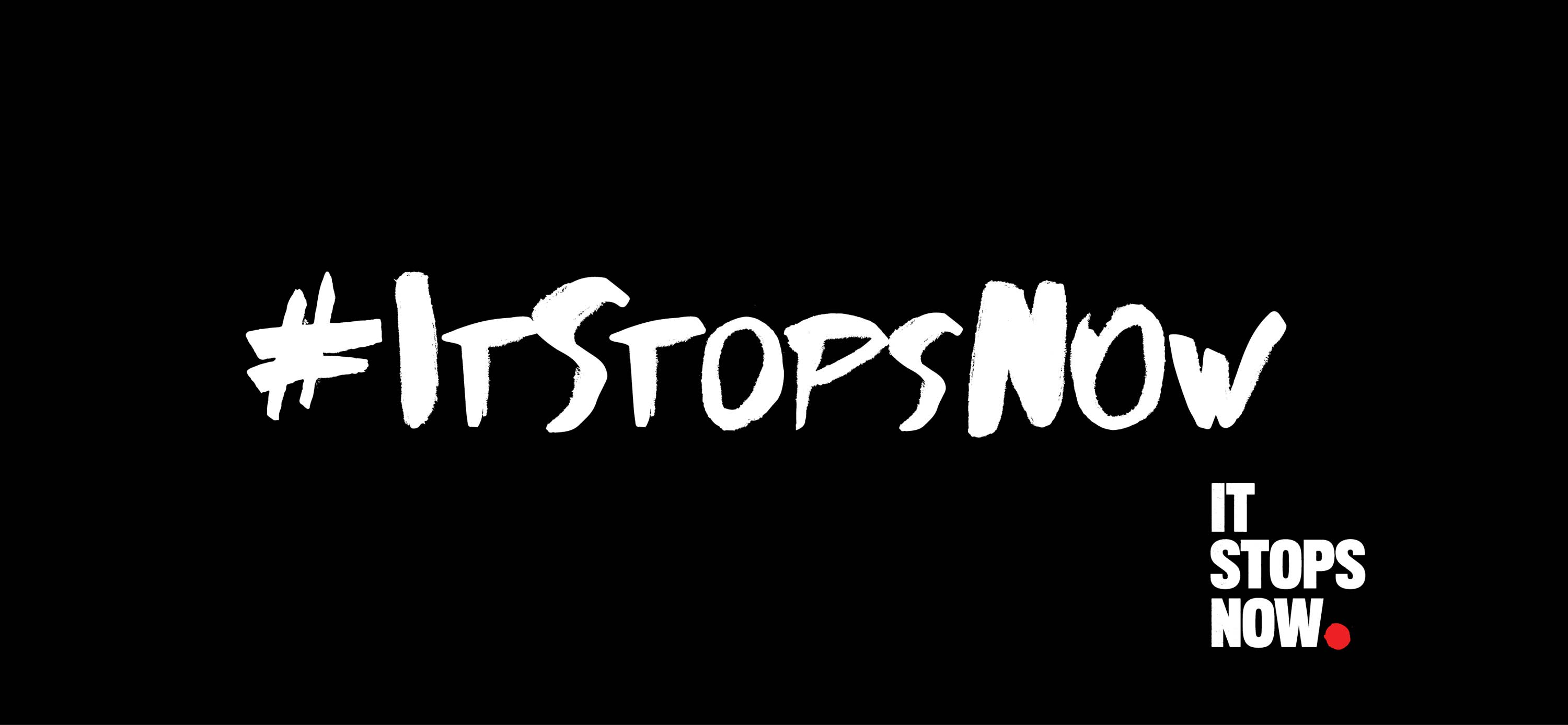 graphic design and logo for It Stops Now European Union Women's Rights Campaign by Piquant
