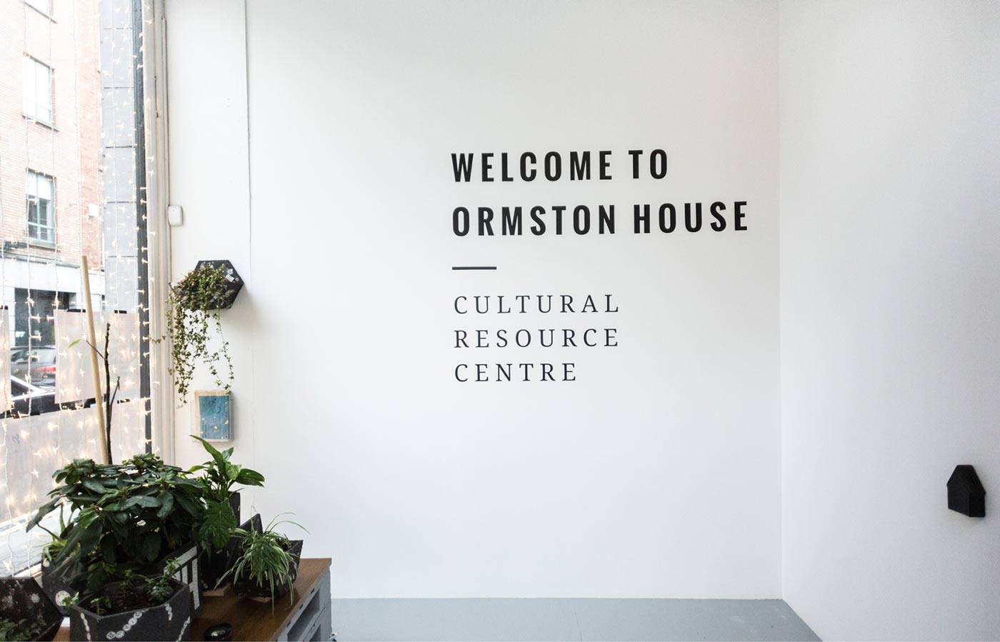 Ormston House Limerick brand development image of typography and welcome sign