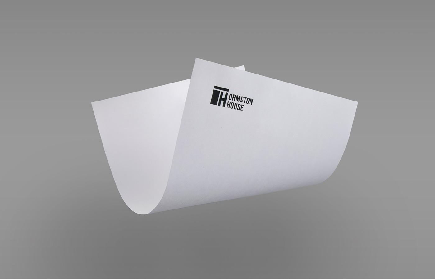 Ormston House Limerick brand development of branded letter head
