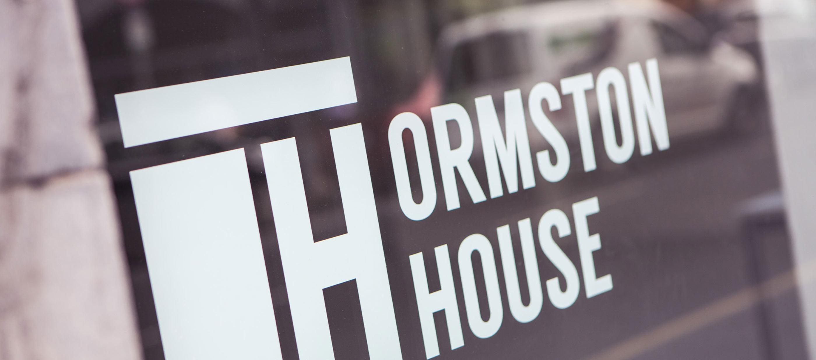 Ormston House Limerick brand development and logo design image of window