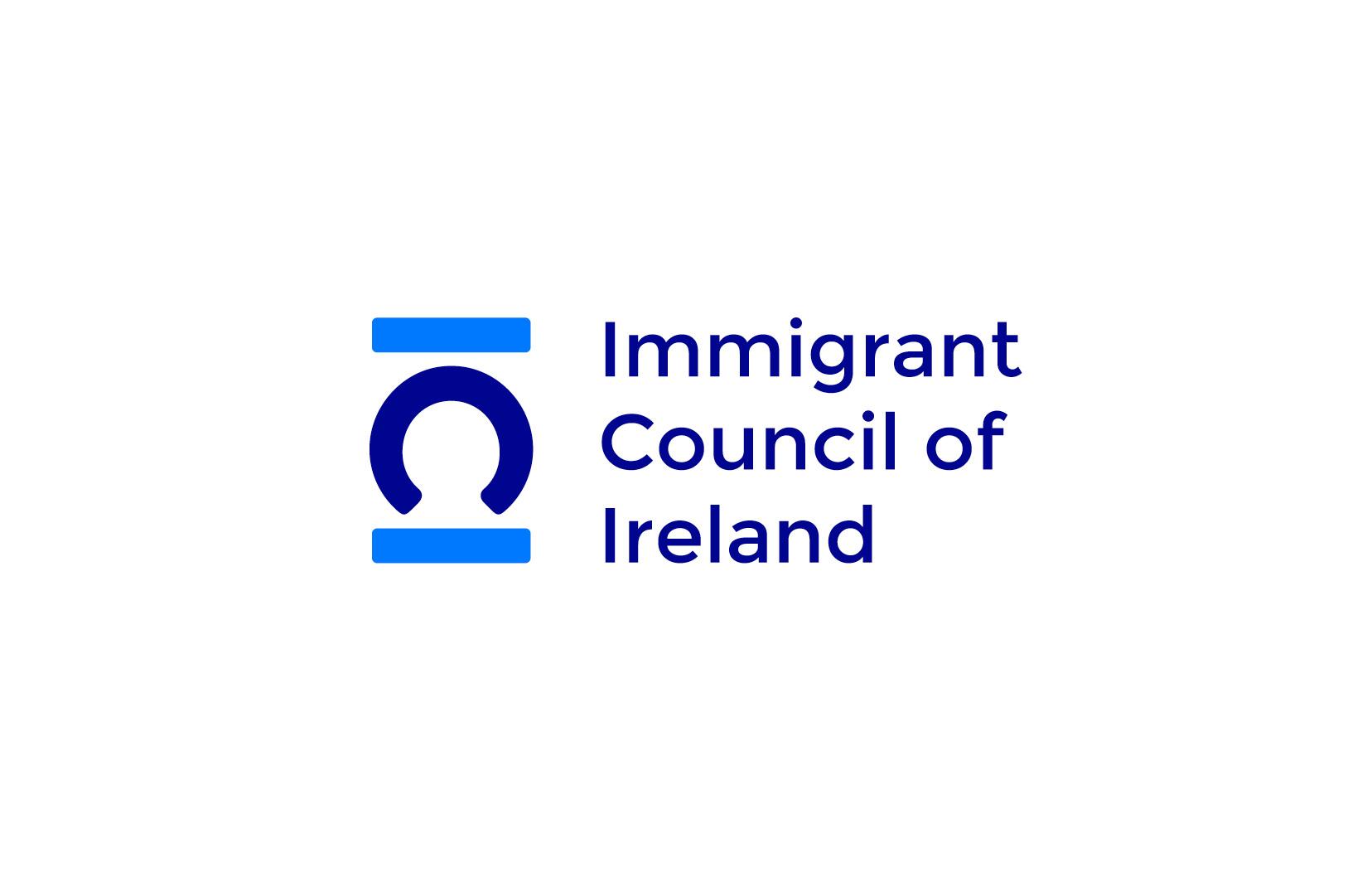 Immigrant Council of Ireland logo design and graphic design