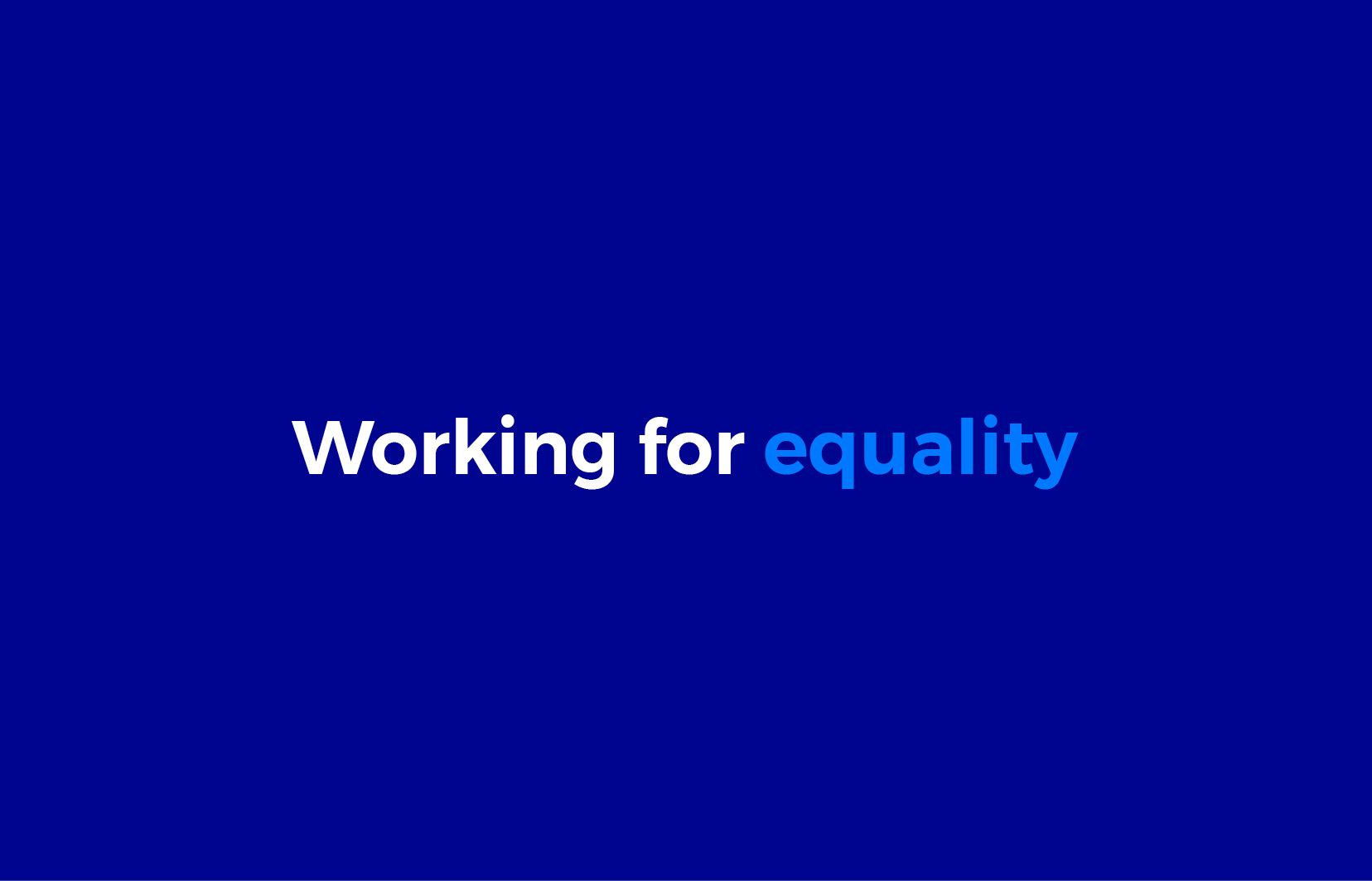 """Immigrant Council of Ireland brand development centred around this phrase """"working for equality"""""""