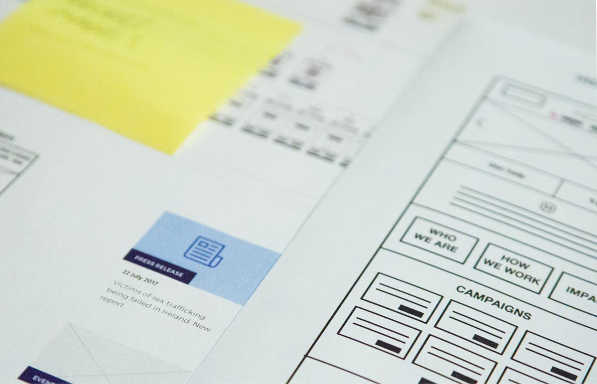 Immigrant Council of Ireland Information architecture & website design blueprints