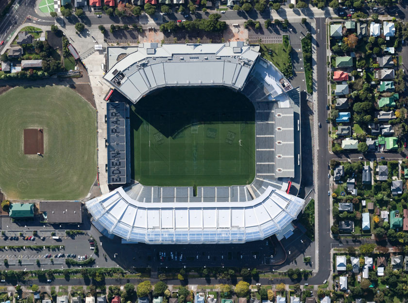 Rugby Video Content creation for video production. Image of rugby stadium Eden Park