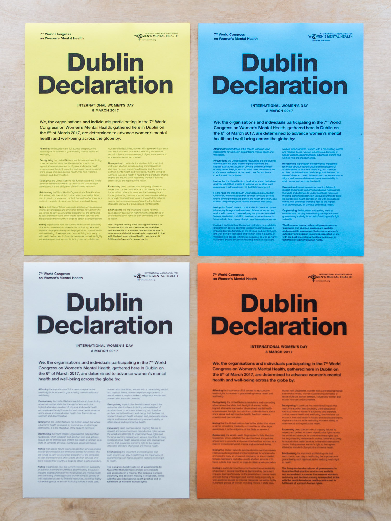Dublin Declaration Graphic Design