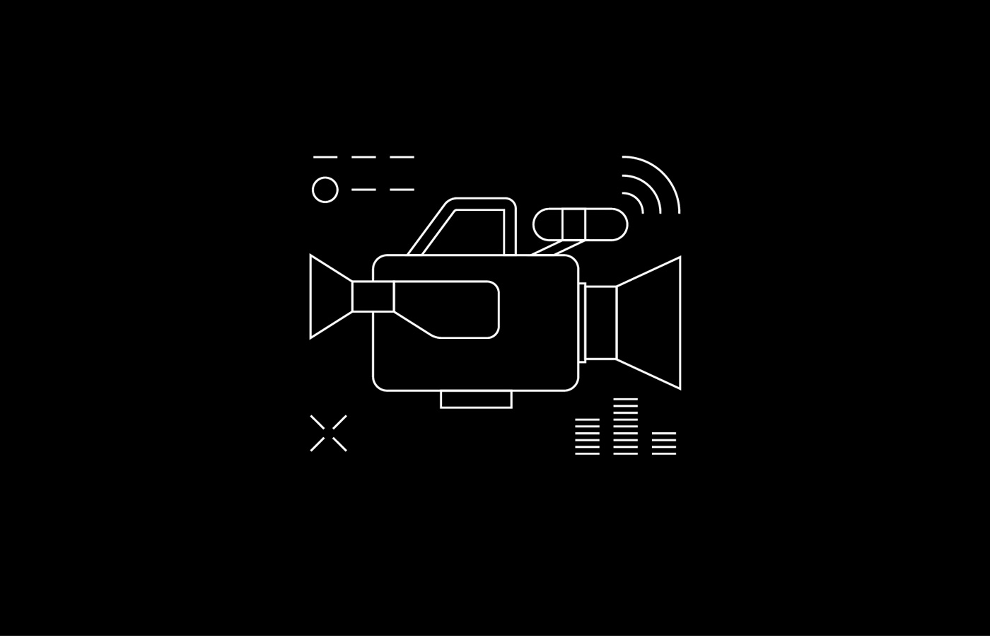 Social media graphics and iconography of video camera for LIT Electrical and Electronic Engineering