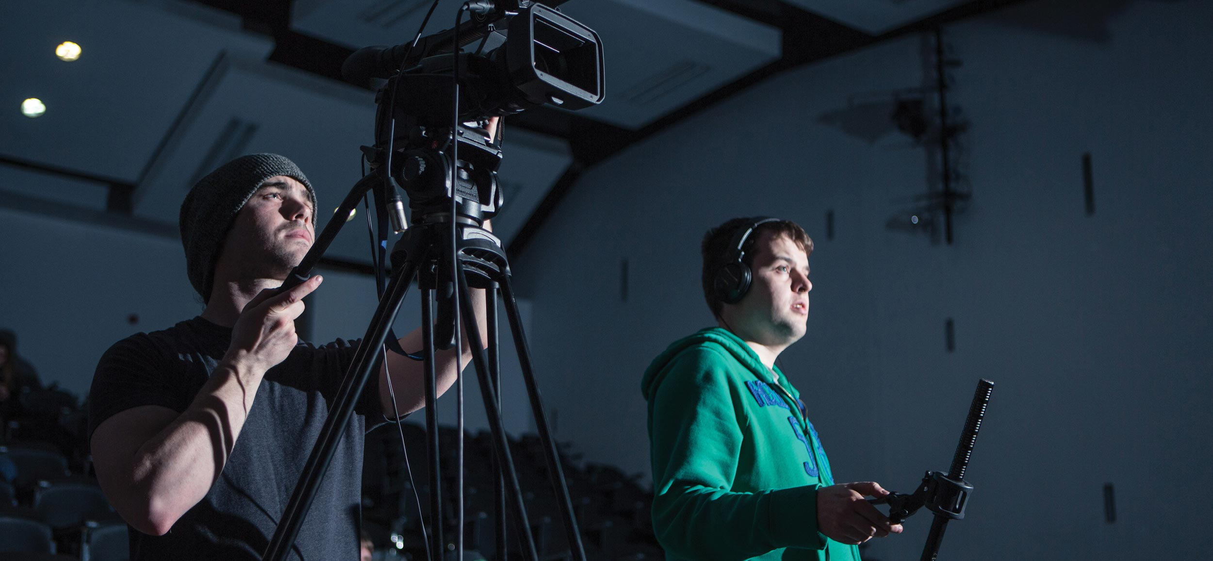 LIT Electrical and Electronic Engineering Video and photography production of students working with video camera and microphones.