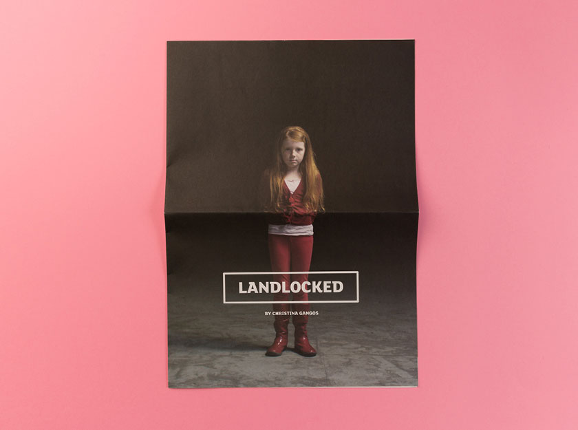 Graphic design and print management for Landlocked featuring young girl.