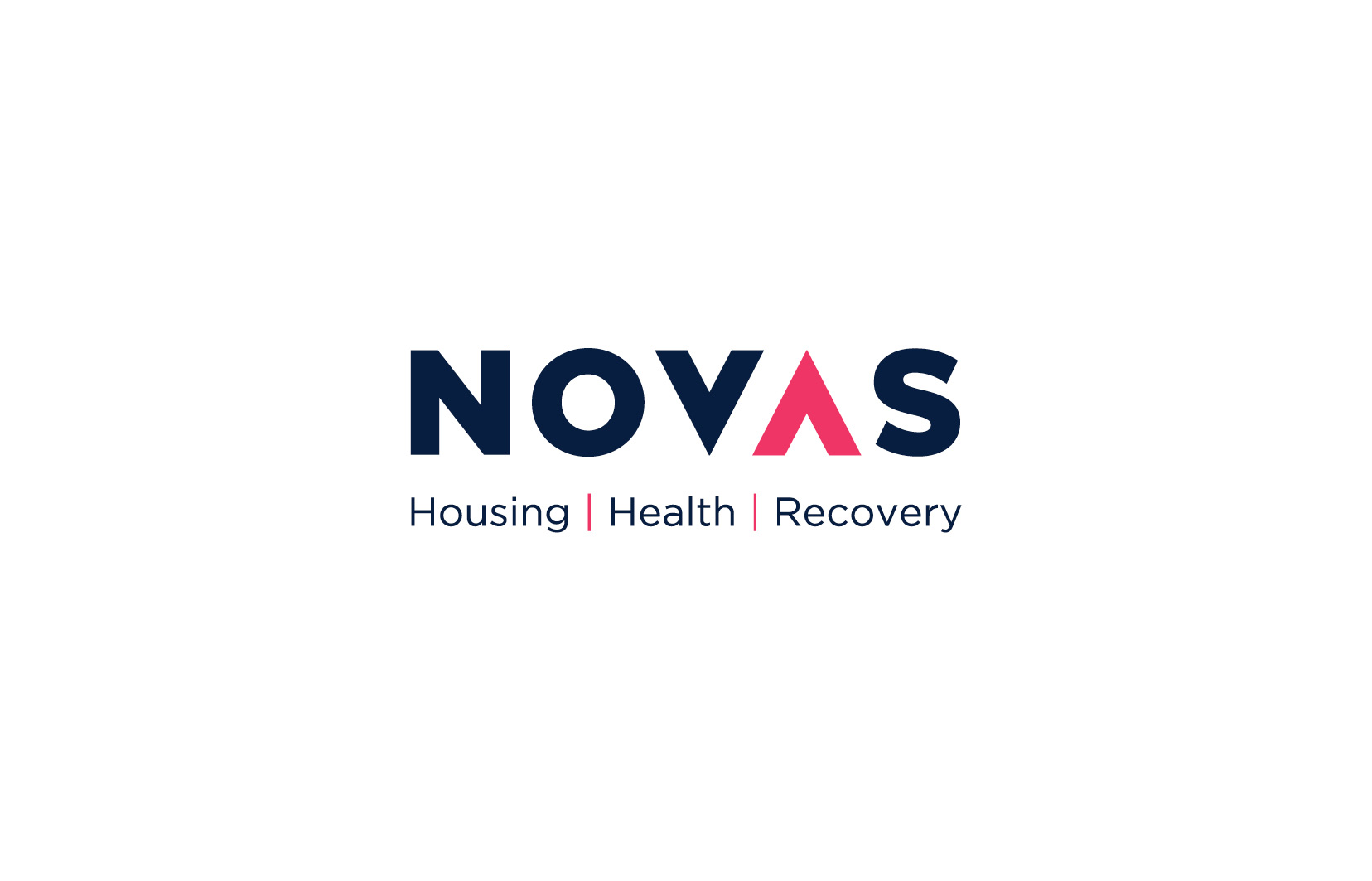 """Novas logo design, graphic design and brand development. Alternate Novas logo """"housing health recovery"""""""
