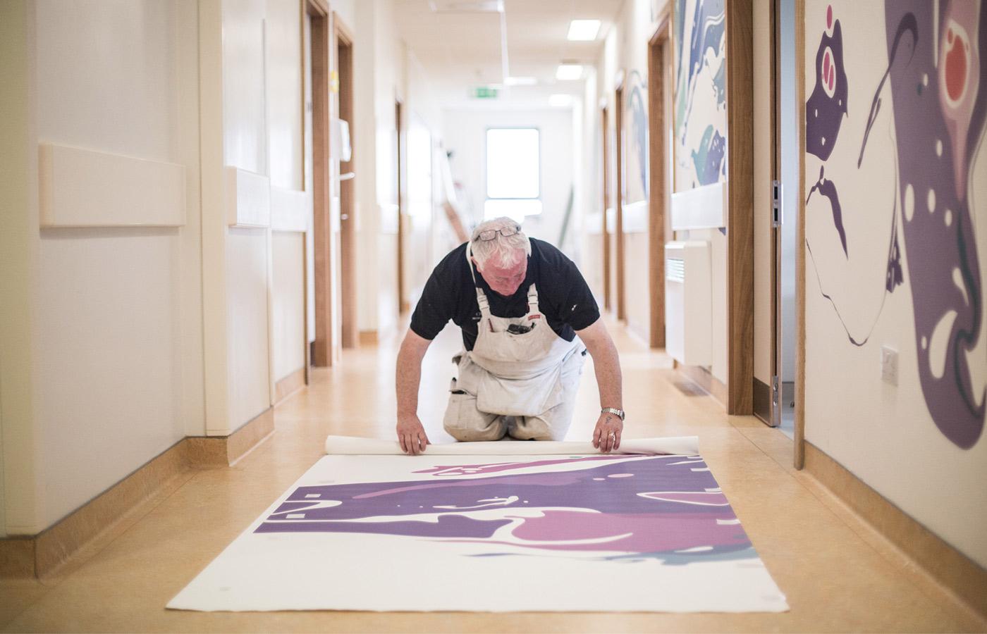 University Hospital Limerick graphic design print decorator installing design