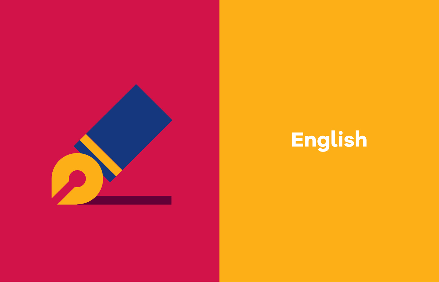 UL Bachelor of Arts campaign graphic design iconography for English
