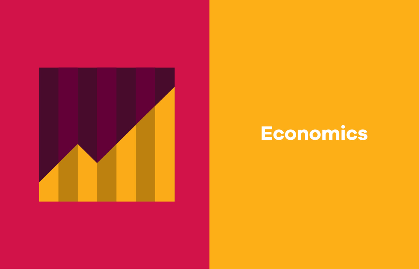 UL Bachelor of Arts campaign graphic design and iconography for economics