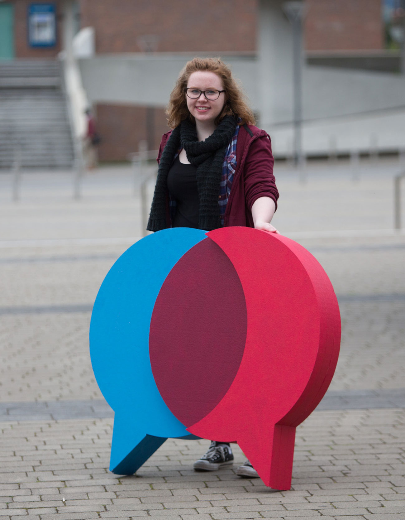 UL Bachelor of Arts Campaign Video and Photography Production student holding linguistics icon
