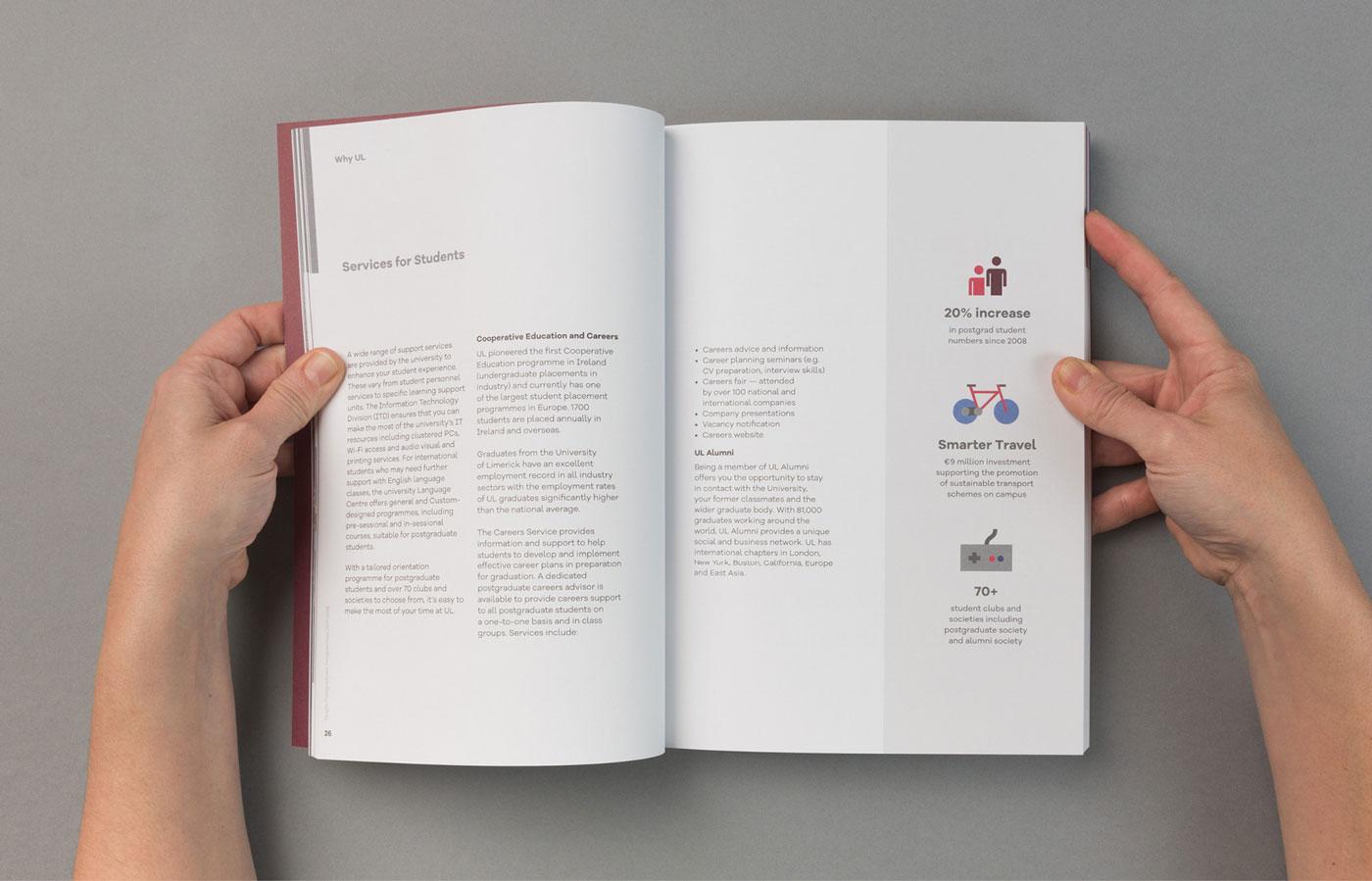 UL Postgrad Prospectus Publication Design