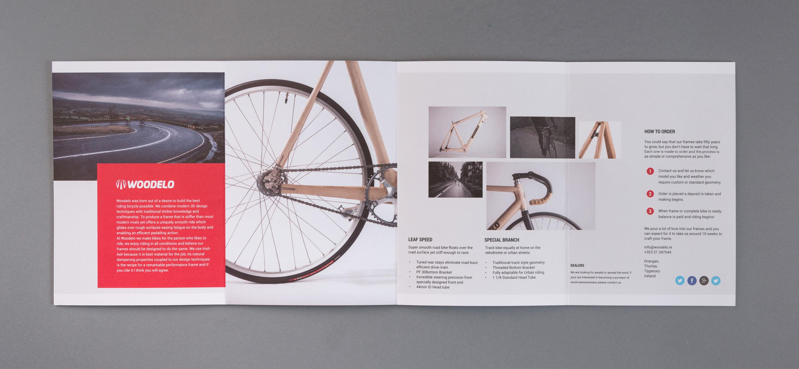 Woodelo brochure design by Piquant Limerick