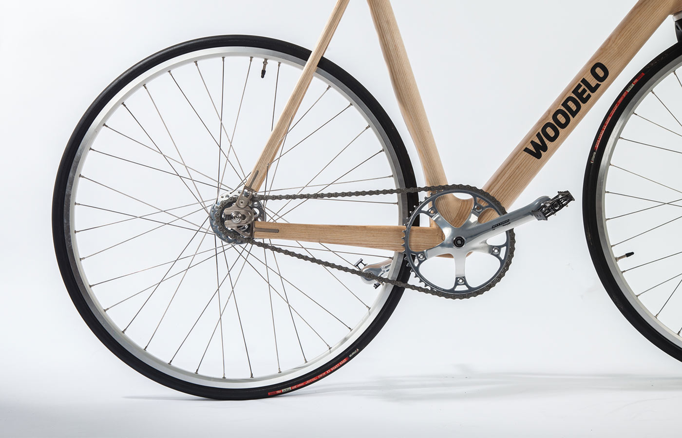 Woodelo photography production showing rear wheel details by Piquant Limerick
