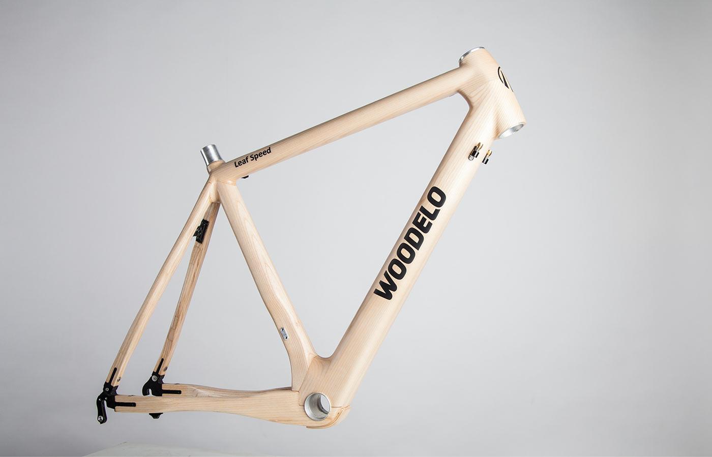 Woodelo product photography bike frame