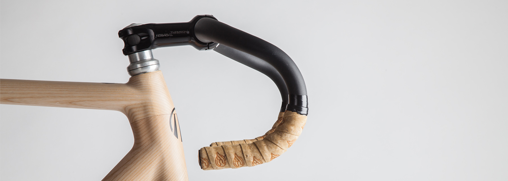 Woodelo photography production smooth finish of wooden frame and handlebars