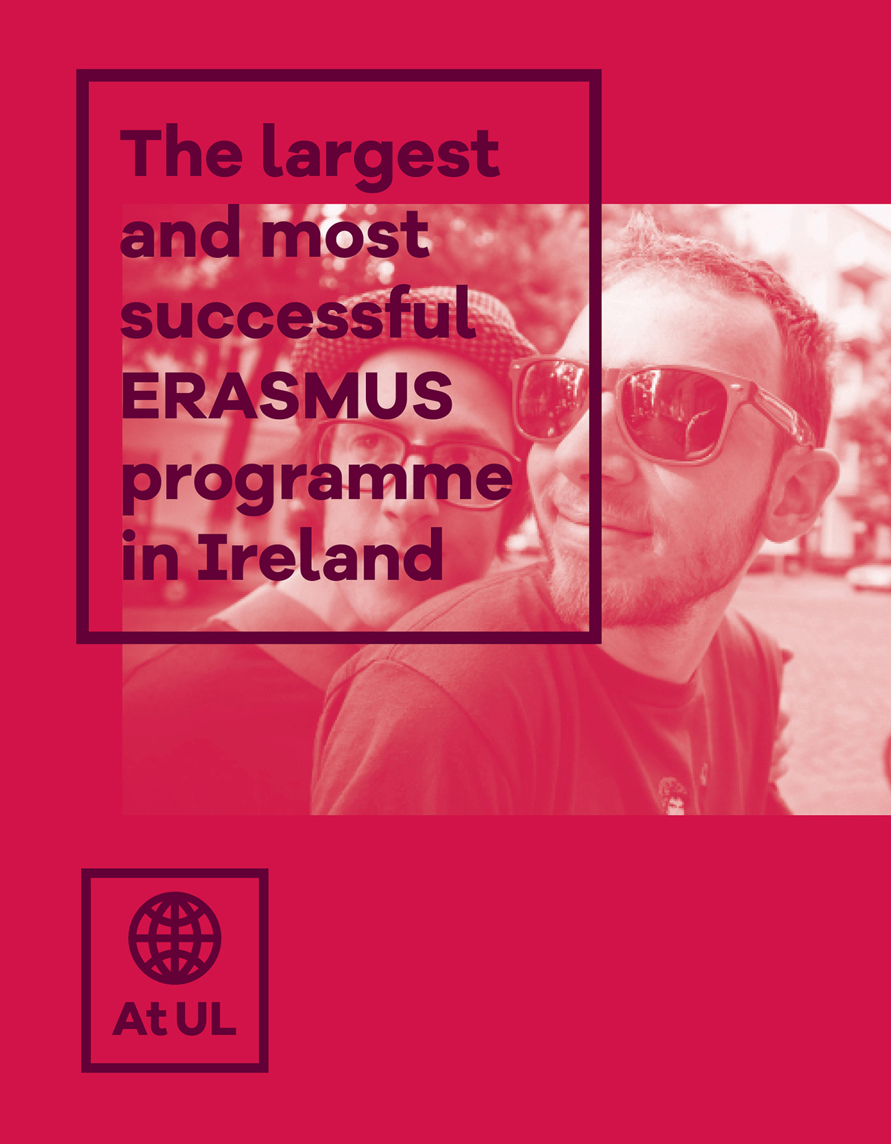 UL Undergrad graphic design of brand identity promoting Erasmus at UL.