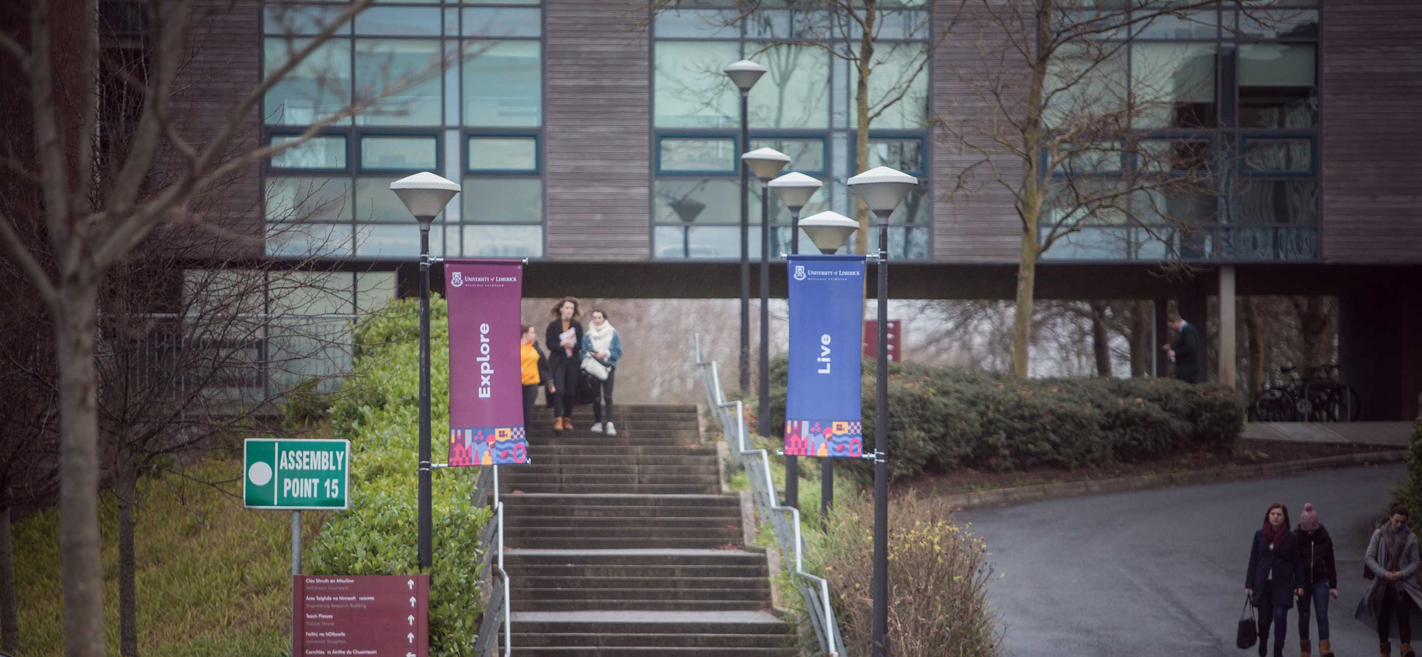 UL Undergrad graphic design of open day banners around campus
