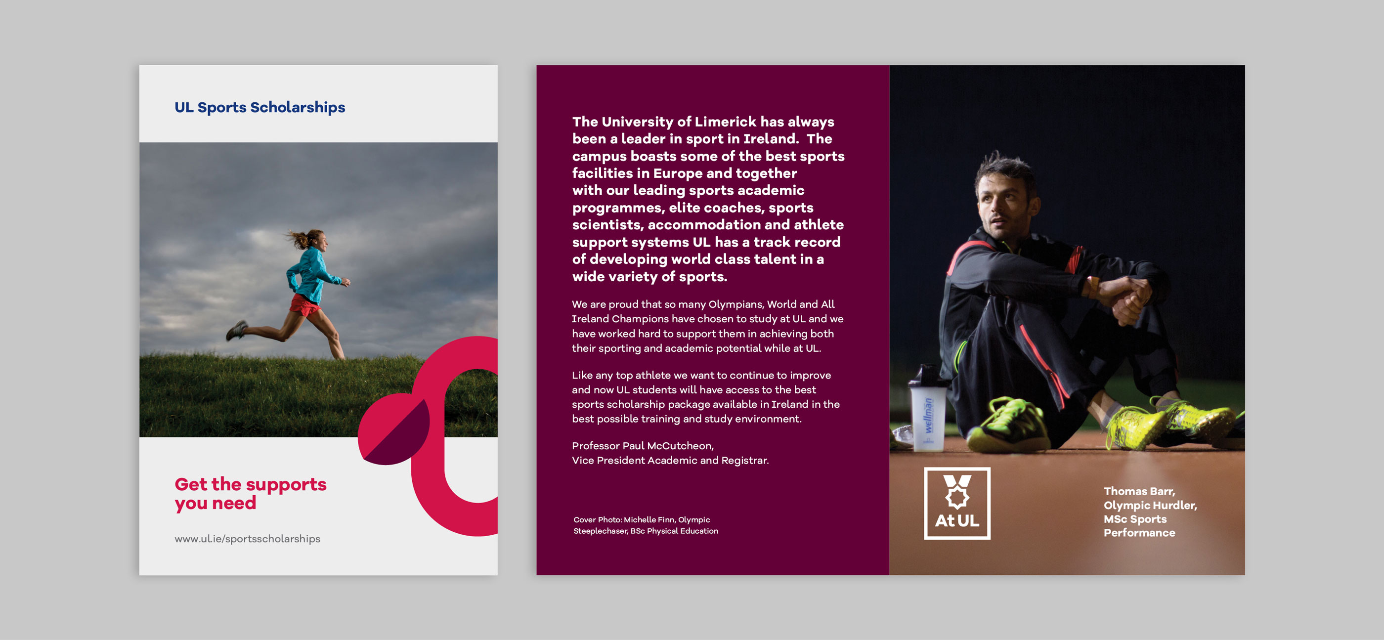 UL Undergrad Brochure Design on UL sports scholarships