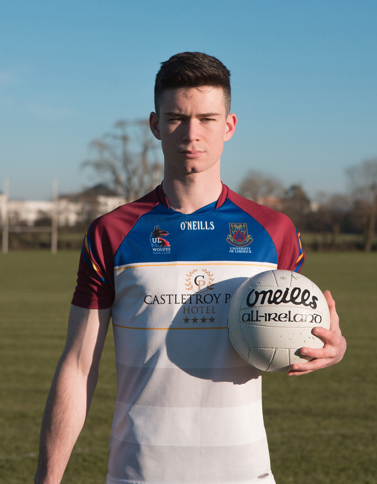 UL Undergrad video and photography production student on GAA football pitch