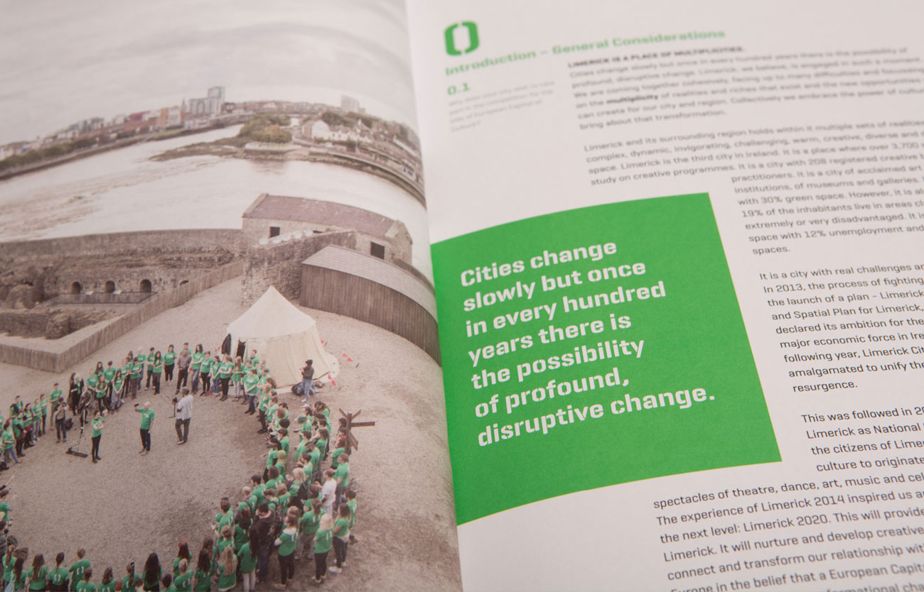 Limerick2020 Campaign Publication Design