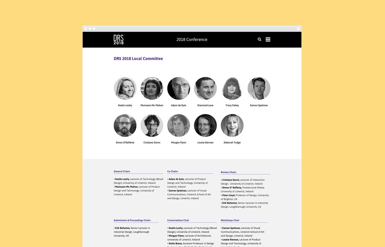 DRS2018 Website Design Development