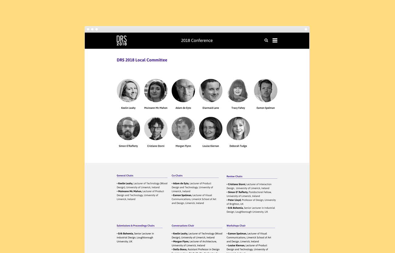 DRS2018 Website Design Development