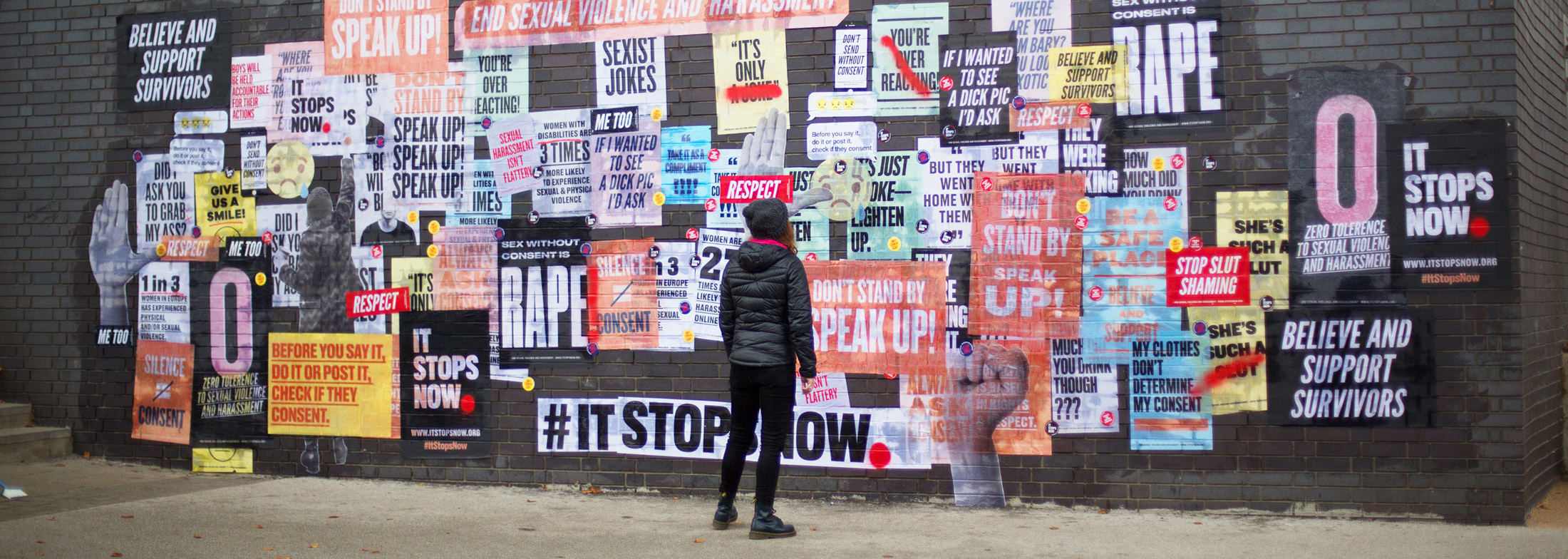 It Stops Now Campaign Video and Photo Production Design for Social Good