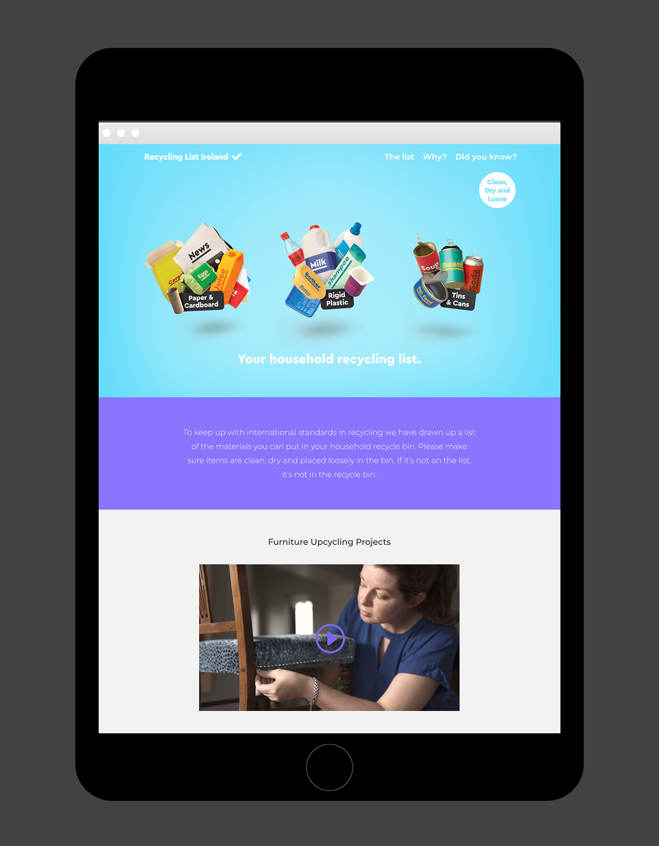 Regional Waste Recycling Campaign Website Design