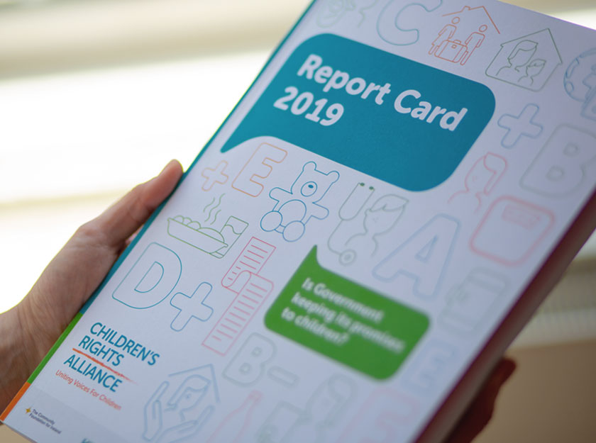 Children's Rights Alliance Report Card Design 2019