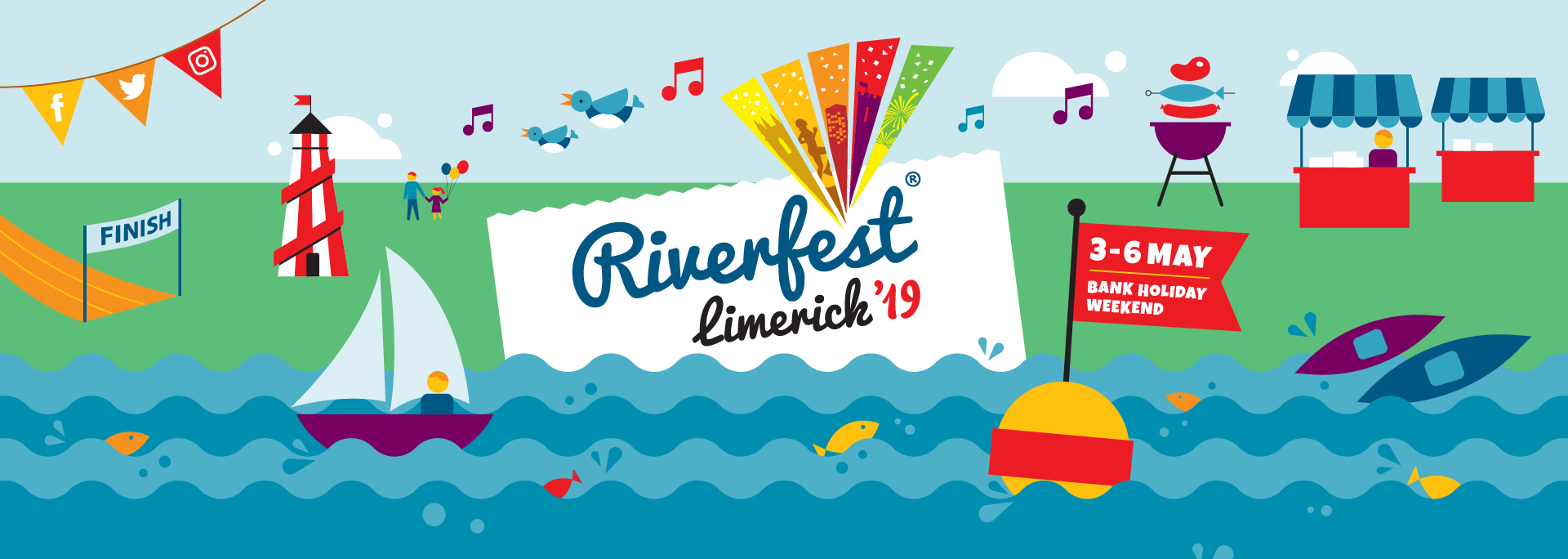 Riverfest Limerick Brand Illustrations Piquant Media Feature Image