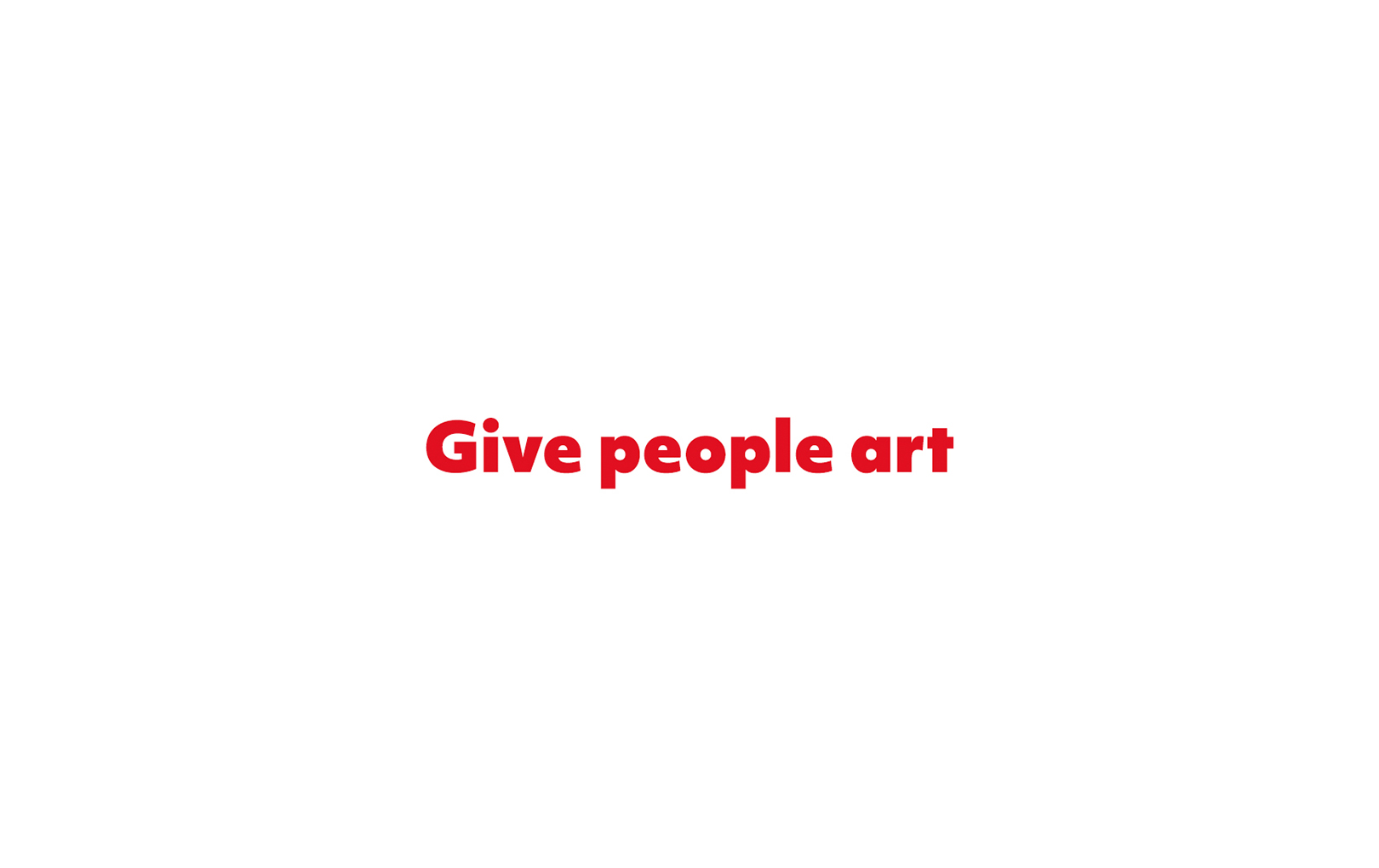 Give people art - Piquant Media, Limerick City