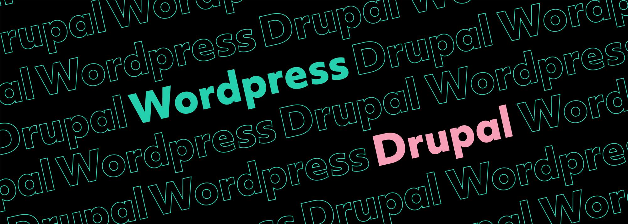 drupal vs wordpress brand development featured