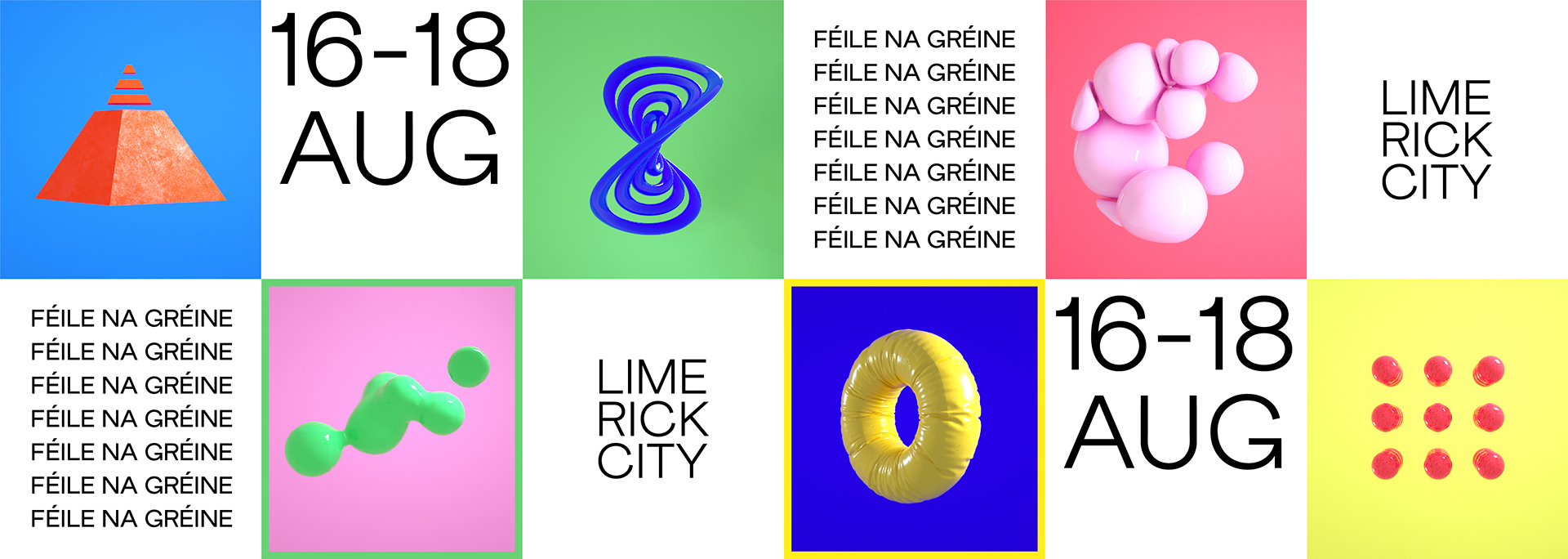 Feile na Greine Limerick City Music Trail Piquant Media Graphic Design