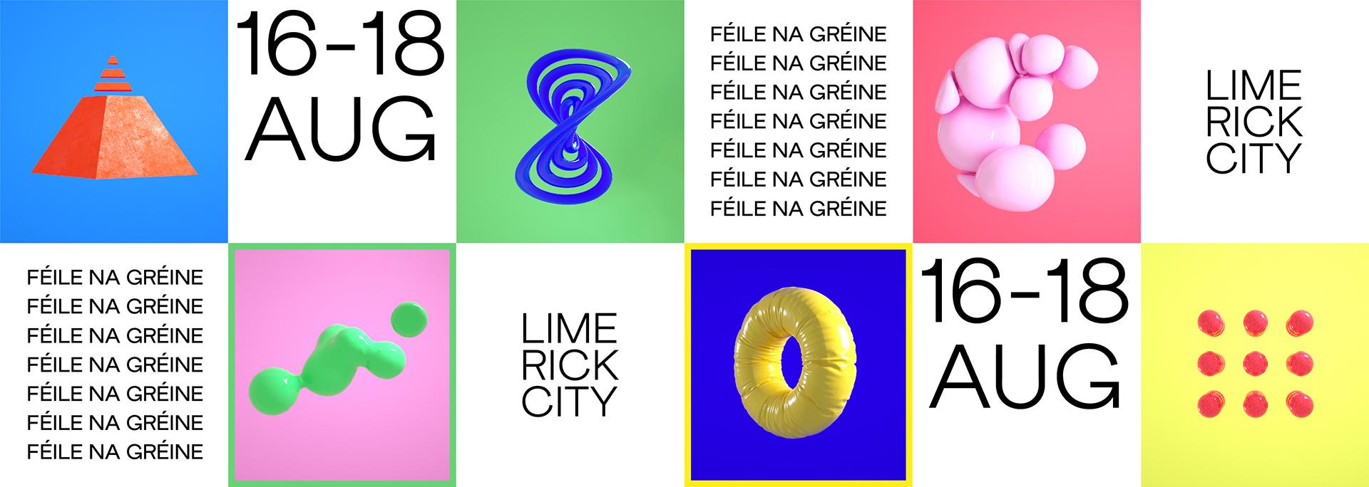 Feile na Greine Limerick City Music Trail Piquant Media Graphic Design
