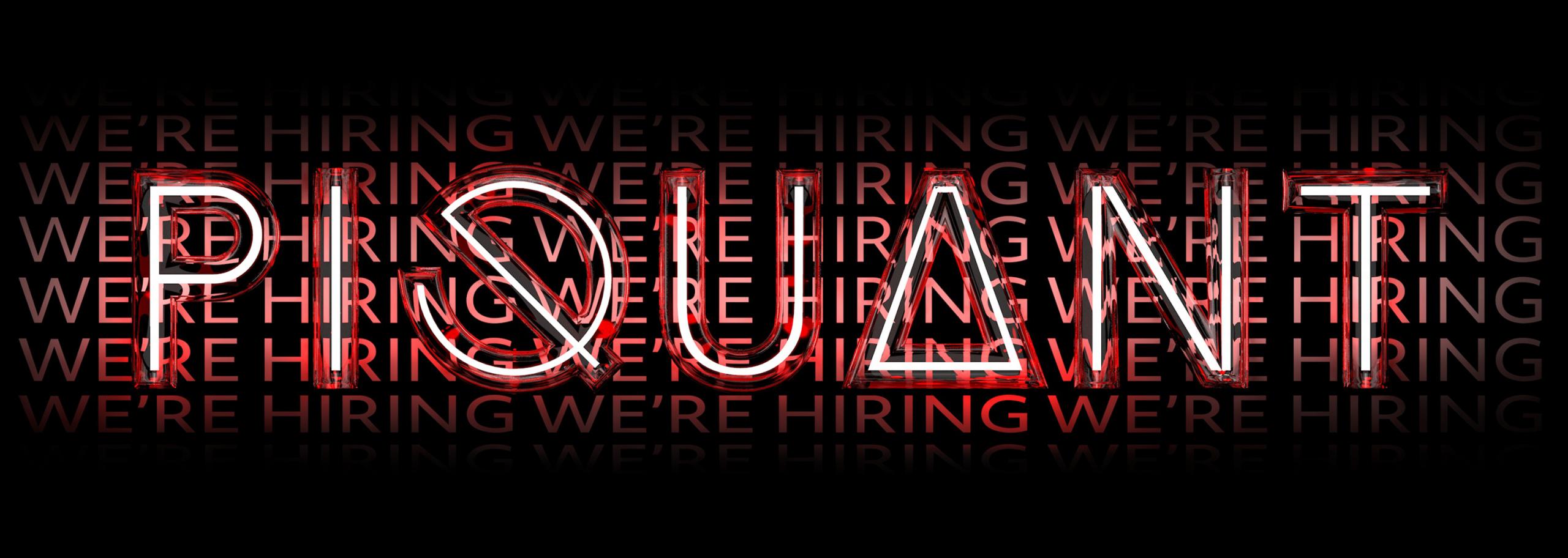 Piquant hiring a digital designer and procurement administrator - header image