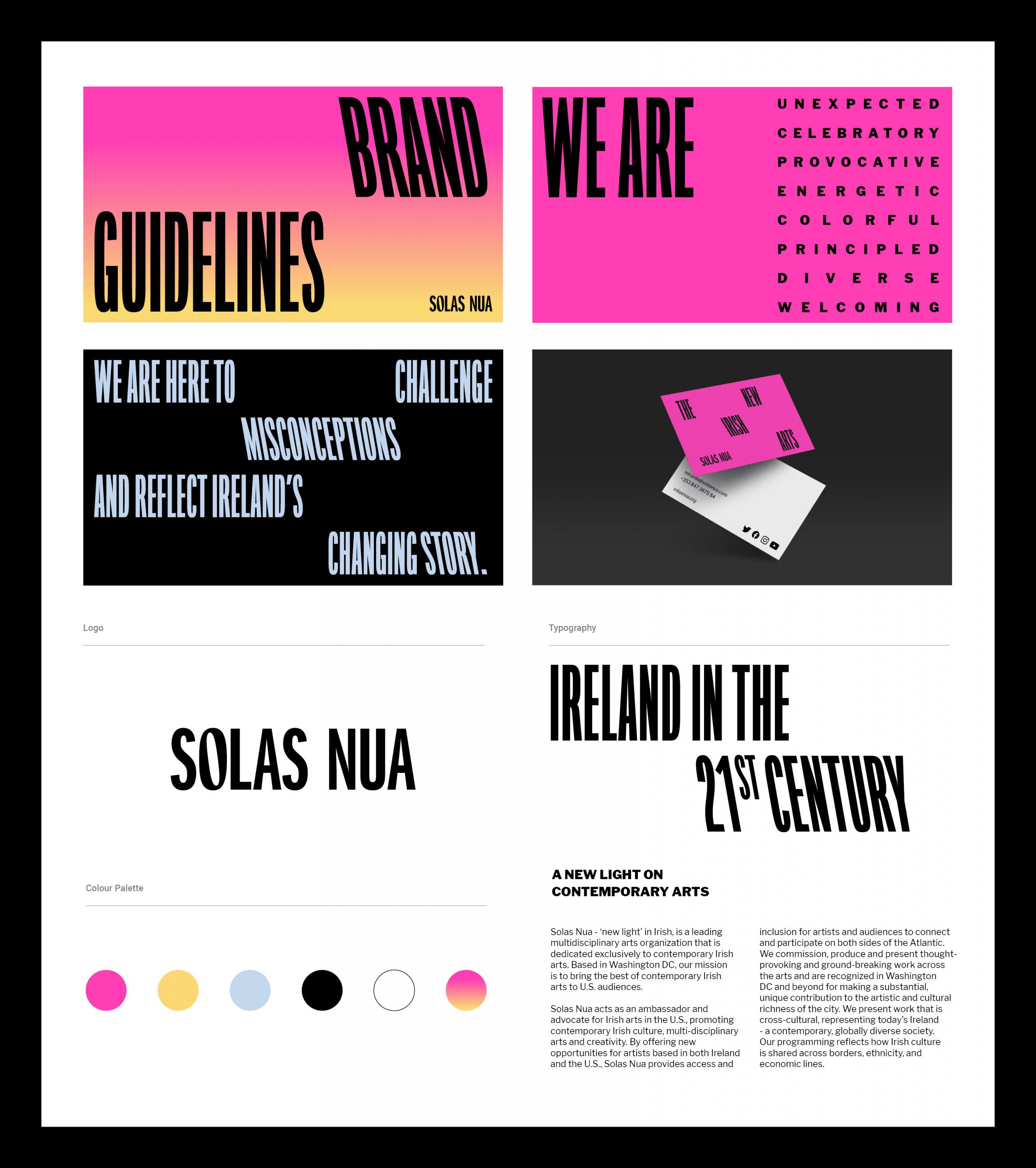 Solas Nua Brand Development